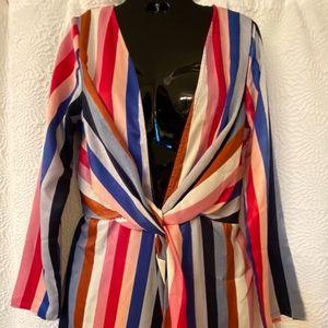 Satin striped Vici dress